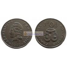 Французская Полинезия 10 франков 2007 год