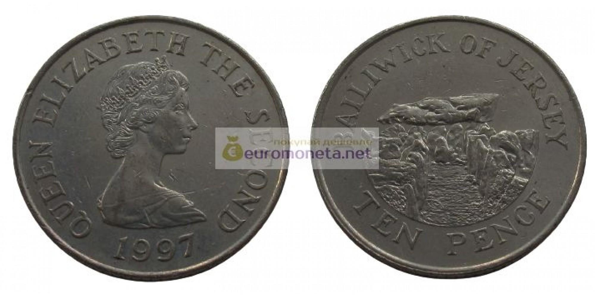 Джерси 10 пенсов 1997 год Елизавета II