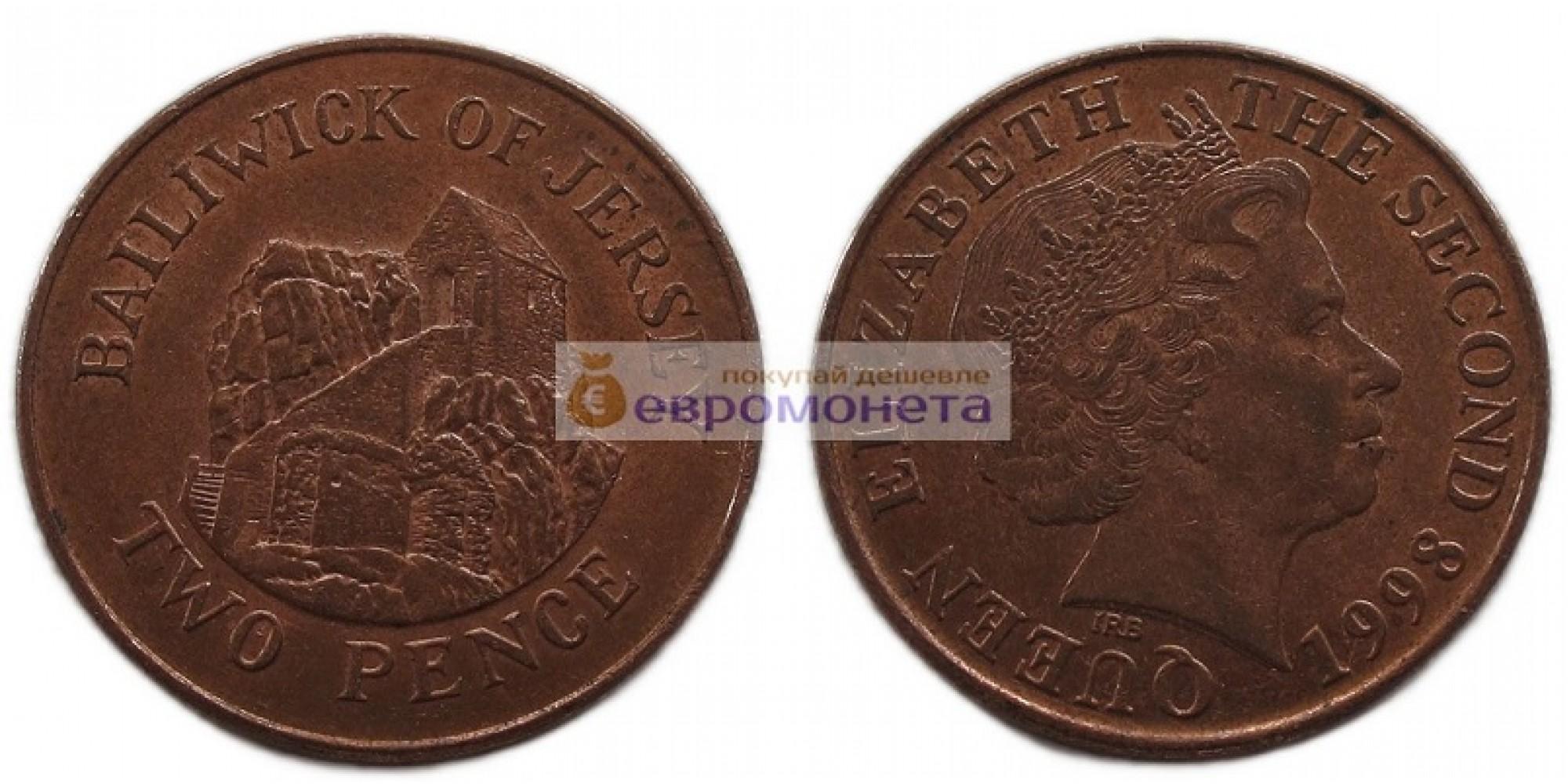 Джерси 2 пенса 1998 год Елизавета II