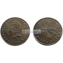 Новая Каледония 10 франков 2008 год