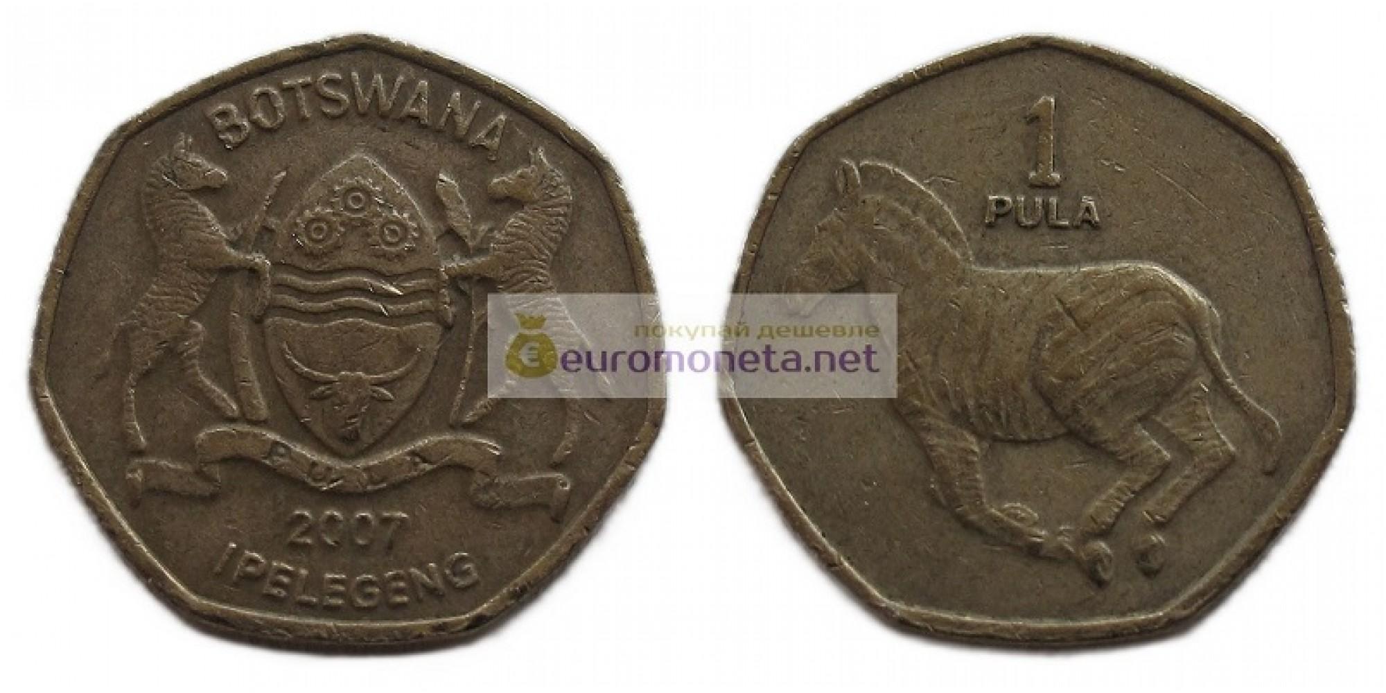 Республика Ботсвана 1 пула 2007 год.