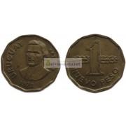 Уругвай 1 новый песо 1978 год.