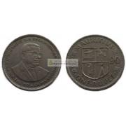 Маврикий 1 рупия 1990 год