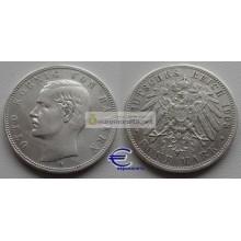 Бавария 5 марок 1903 год D серебро Отто