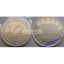 Германия 1/2 oz пол унции Geiger Edelmetalle серебро запайка