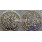 ФРГ 10 марок 1989 год G 40-летие ФРГ серебро запайка пруф