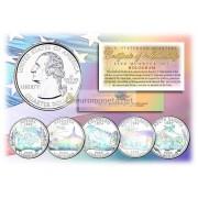 США набор квотеров 2006 голограмма 25 центов полный набор из 5 монет