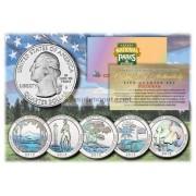 США 2013 квотер 25 центов голограмма национальные парки Америки набор из всех 5 монет