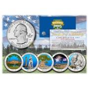 США 2013 квотер 25 центов цветные национальные парки Америки набор из 5 монет