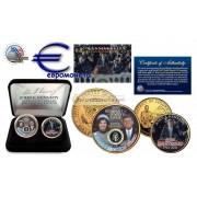США Президент Джон Ф. Кеннеди Президентский набор с 2 монетами, 50 лет