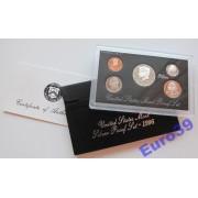 США годовой набор 1996 S 5 монет серебро пруф