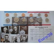 США годовой набор 1985 P D 10 монет АЦ UNC