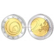 Словения 2 евро 2013 год UNC 800 лет со дня открытия пещеры Постойнска-Яма, биметалл. АЦ
