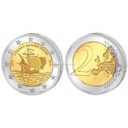 Португалия 2 евро 2011 год, 500 лет со дня рождения Фернана Мендеса Пинто, парусник