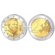 Италия 2 евро 2012 год UNC 100 лет со смерти поэта Джованни Пасколи, биметалл