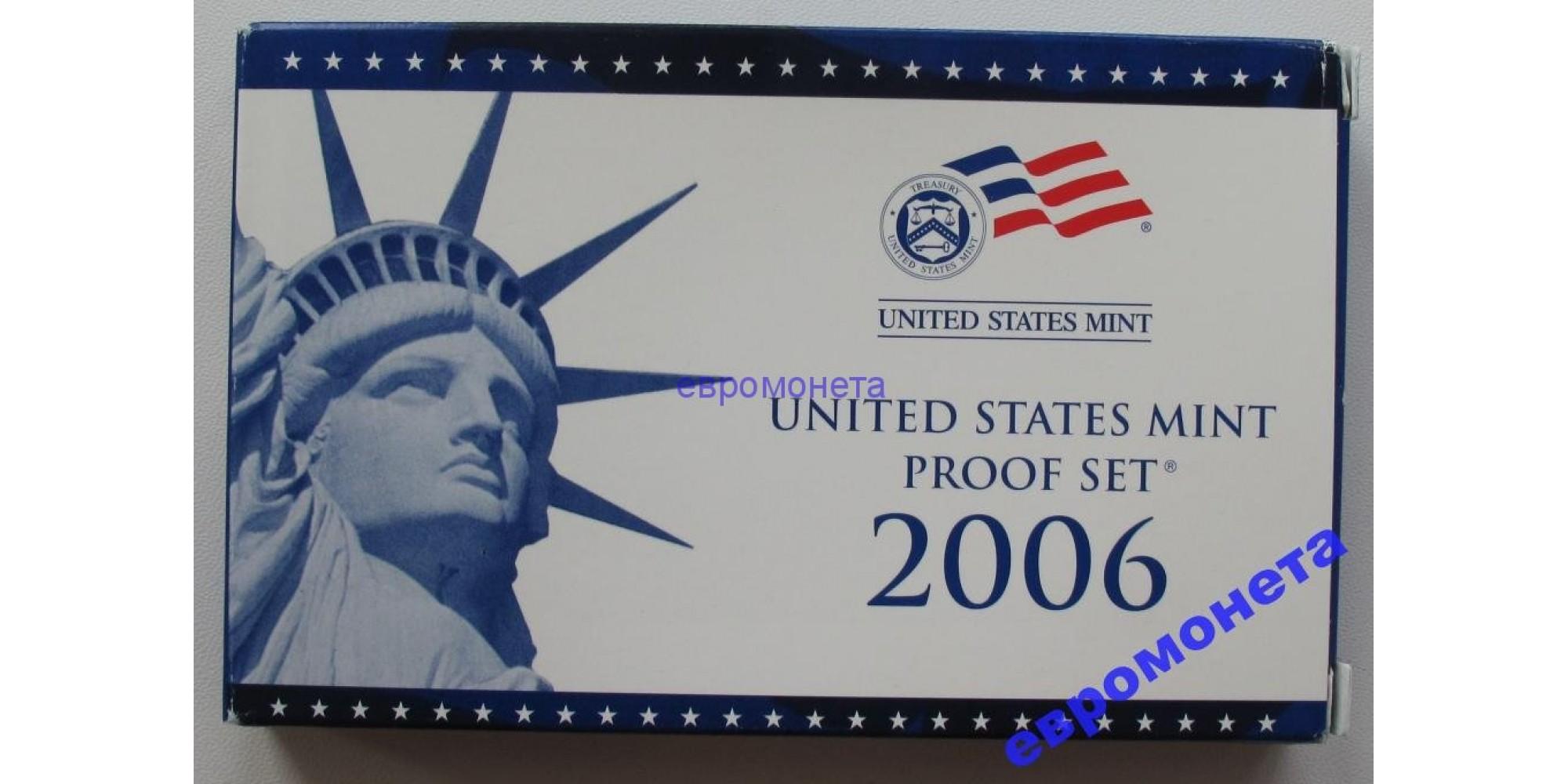 США полный годовой набор 2006 S ПРУФ proof 10 монет