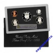 США годовой набор серебро 1992 год S пруф proof