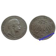 Германия Пруссия 5 марок 1895 год A монета на фотографии серебро