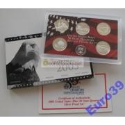 США набор квотеров 25 центов 2005 S пруф proof 5 монет серебро