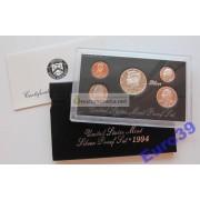 США годовой набор 1994 S 5 монет серебро ПРУФ