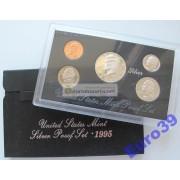 США годовой набор 1995 S 5 монет серебро ПРУФ