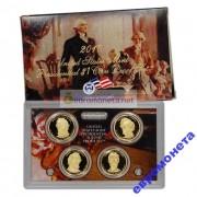 США набор президенты доллар 2010 S 4 монеты пруф Proof