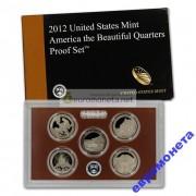 США годовой набор квотеров 2012 S пруф Proof