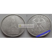 Германия 3 рейх 5 марок 1934 J серебро кирха состояние
