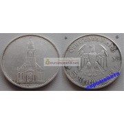 Германия 3 рейх 5 марок 1935 E серебро кирха состояние