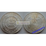 ФРГ 5 марок 1973 год G серебро 125 лет Франкфуртскому национальному собранию