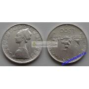 Италия 500 лир 1960 год R серебро корабли Колумба