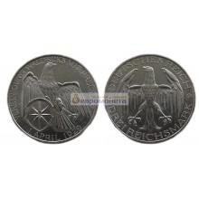 Германия Веймарская республика 3 рейхсмарки 1929 год Объединение Вальдека и Пруссии. Серебро