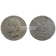 """Германская империя Бавария 2 марки 1904 год """"D"""" Отто. Серебро"""