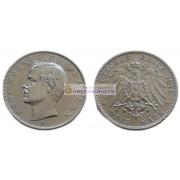 """Германская империя Бавария 3 марки 1910 год """"D"""" Отто. Серебро"""