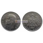 """Германская империя Бавария 3 марки 1911 год """"D"""" Отто. Серебро"""
