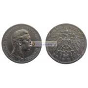 """Германская империя Пруссия 5 марок 1898 год """"A"""" Вильгельм II. Серебро"""