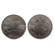 Россия 3 рубля 1995 год ММД Соболь. Серебро. UNC