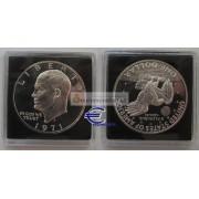 США доллар 1971 год монетный двор S пруф proof серебро Эйзенхауэр