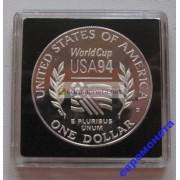 США доллар 1994 год монетный двор S пруф proof серебро футбол