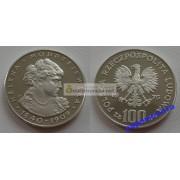 Польша 100 злотых 1975 год Хелена Моджеска серебро пруф