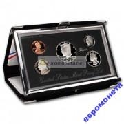 США набор 1993 год us mint premier silver proof set пруф серебро 5 монет