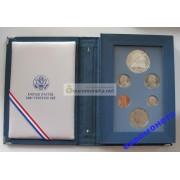 США набор 1987 год Prestige Set Proof серебро 1 доллар Конституция 6 монет