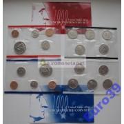 США полный набор монет 1999 год Denver Philadelphia Кеннеди АЦ 18 монет
