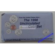 США полный набор монет 1998 год 10 монет Кеннеди Денвер (D), Филадельфия (P) АЦ