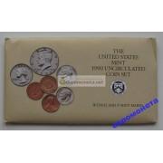 США полный набор монет 1990 год 10 монет Кеннеди Денвер (D), Филадельфия (P) АЦ