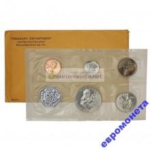 США годовой набор 1962 год 5 монет ПРУФ серебро
