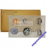 США набор 1957 год P Франклин серебро пруф