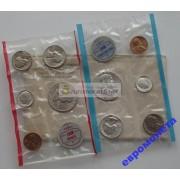США набор 1962 год Линкольн серебро 10 монет UNC АЦ
