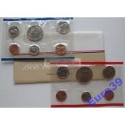 США годовой набор 1986 год Кеннеди Денвер (D), Филадельфия (P) 10 монет АЦ UNC