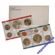 США годовой набор 1978 год Кеннеди Денвер (D), Филадельфия (P) 12 монет АЦ UNC